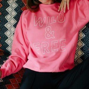 NEW Wild and Free Graphic Sweatshirt oversized